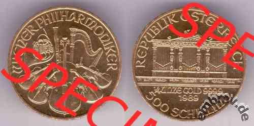 Embmv 500 Schilling Wiener Philharmoniker 14 Unze Gold