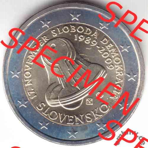 Embmv 2 Euro Gedenkmünze Von Slowakei 2009 Freiheit Und Demokratie
