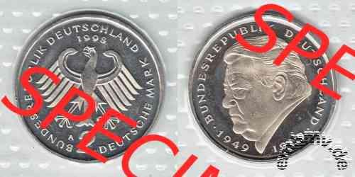 Embmv 2 Dm Münzen Franz Josef Strauß 1990 2001 Adfgj Wert