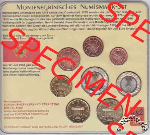 Embmv Euro Kms Montenegro 2004 Numismatik Set